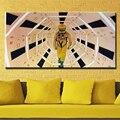 Бэнкси арт красочные дождь Бэнкси Холст живопись фрески для гостиной стены Куадрос decorativos плакаты и печать - фото