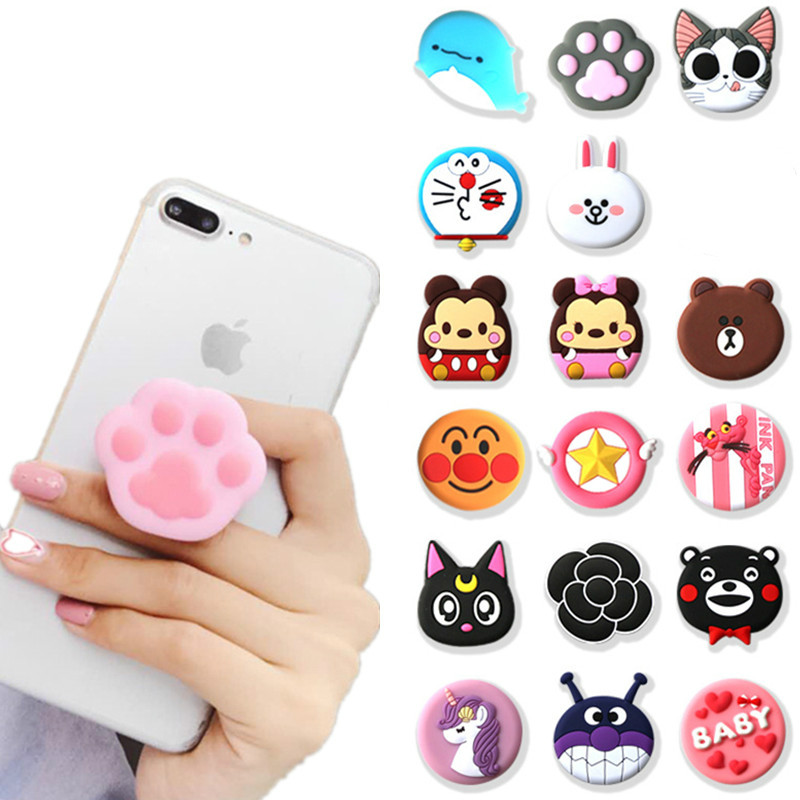 ZUCZUG Universal Mobile Phone Bracket Cute 3D Animal Airbag Phone Expanding Stand Finger Holder Rabbit Bear Phone Holder Stand