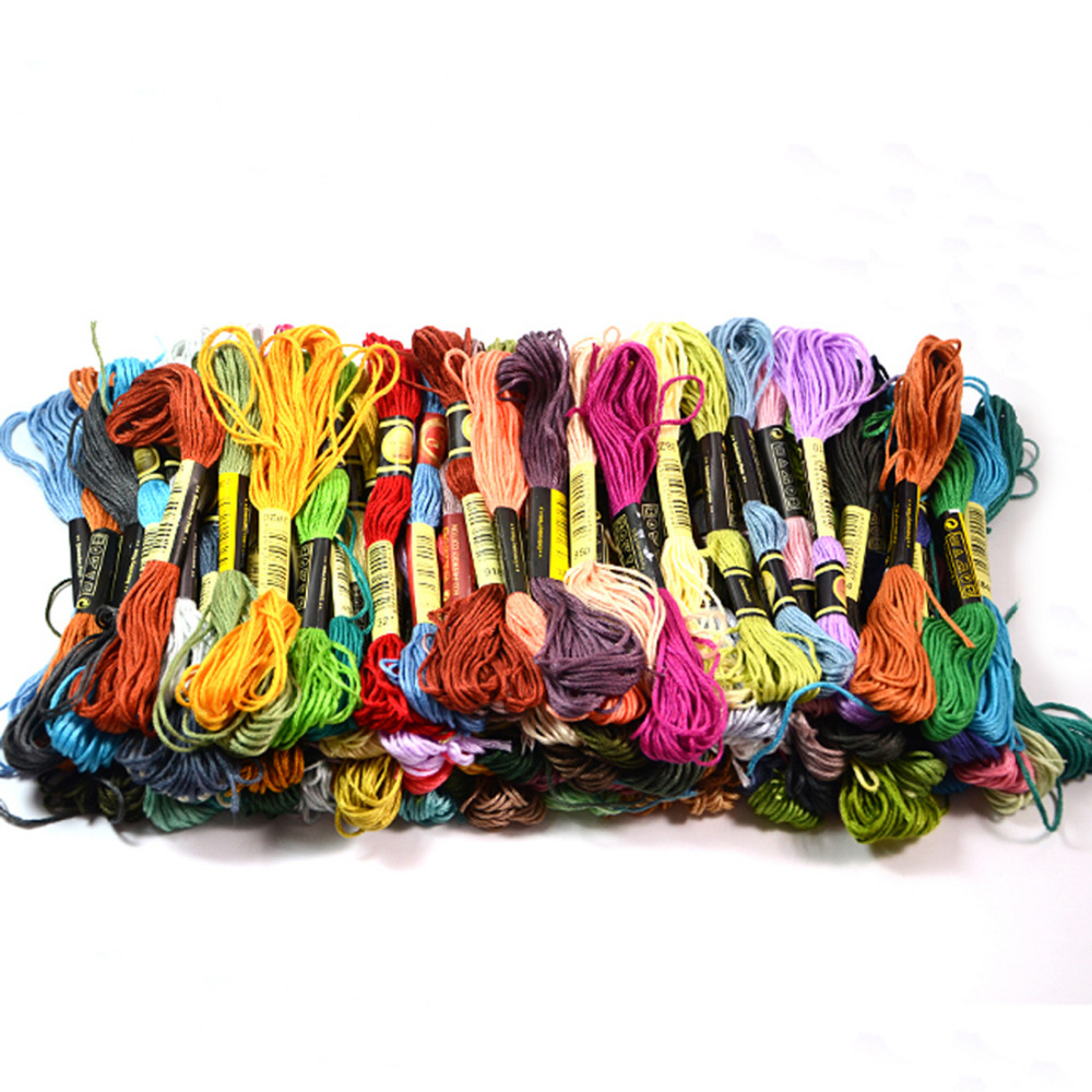 725 1 x Embroidery Floss Skeins Cross Stitch Thread Friendship Bracelets Floss Crafts Floss Cotton Sewing Embroidery Kit Color Code 725~772