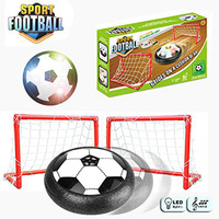Hover Ball LED Flashing Air Floating Footballs With Soccer Gate Kids Sports Toys Suspended Floating Hockey