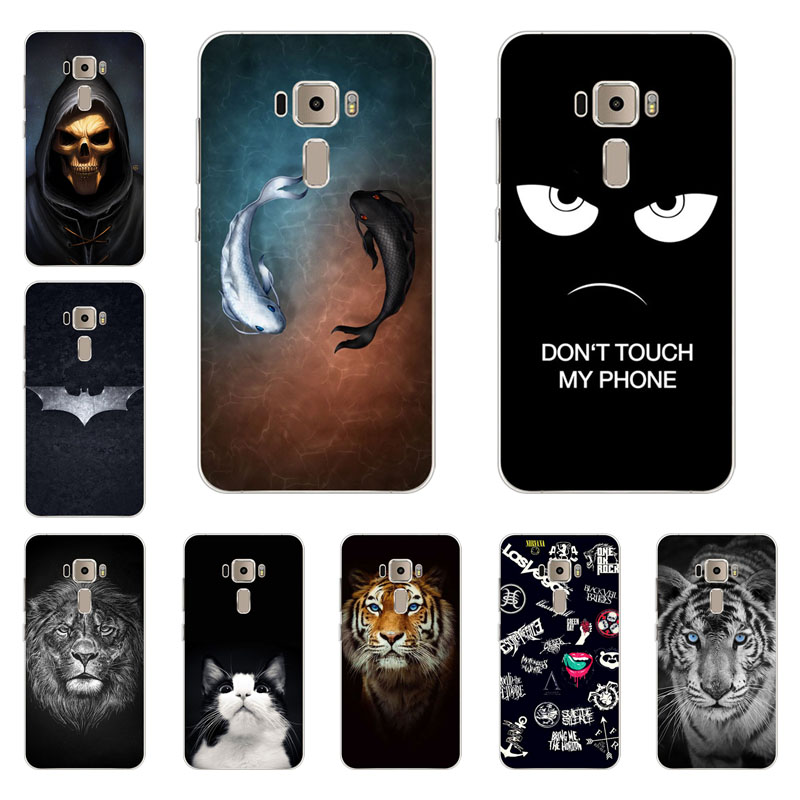 For Asus zenfone 3 ze552kl case,silicon Gossip fish Painting Soft TPU Back Cover for Asus zenfone 3 ze552kl protect Phone shell