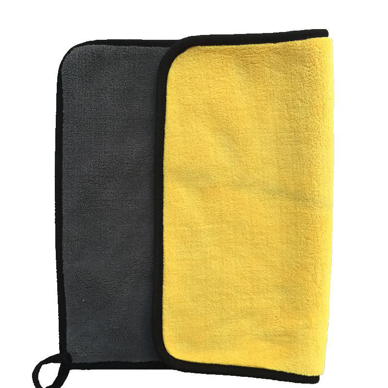 Image 4 - High density thickened strong absorbent coral velvet cleaning cloth 30*40cm Double sided two color car wash towel Cleaning towel-in Sponges, Cloths & Brushes from Automobiles & Motorcycles