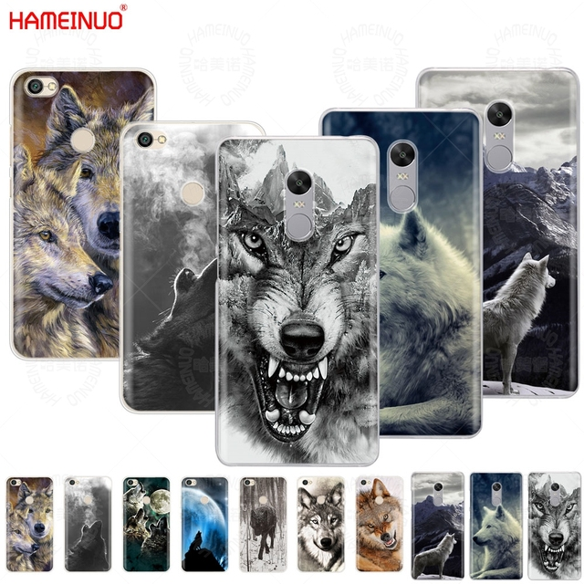 huge discount 50df2 1dab1 US $2.48 |wolf animal Cover phone Case for Xiaomi redmi 5 4 1 1s 2 3 3s pro  PLUS redmi note 4 4X 4A 5A prime-in Half-wrapped Case from Cellphones & ...