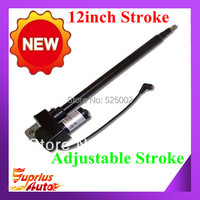 12/300mm Stroke Linear Actuator 225lbs Force Adjustable Stroke 12Volt DC actuator linear Built In limit switches