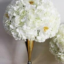 SPR стиль Свадебный дорожный свинец Искусственный Свадебный Настольный цветок центральный цветок шар украшение