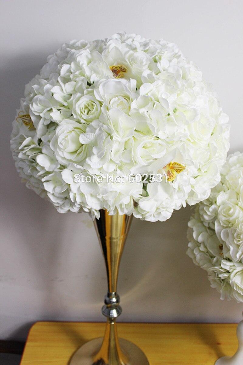 SPR 새로운 스타일의 결혼 도로 리드 인공 웨딩 테이블 꽃 중심 장식 꽃 공 장식