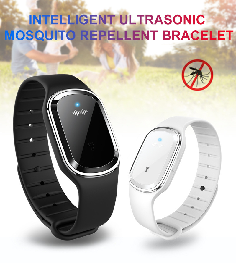 New Intelligent Mosquito Repellent Bracelet Artifact Ultrasonic Pest Repeller Reject Anti Mosquito Indoor Outdoor Ultrasound