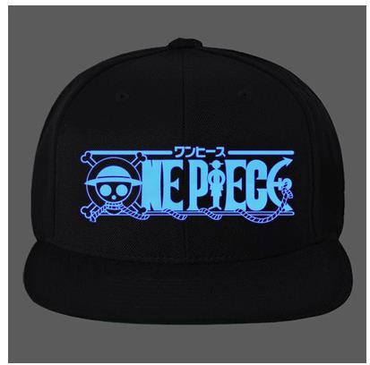 Luminous Anime One piece Monkey D Luffy Baseball Cap For Men Women Adjustable Hip-Hop Snapback Hat
