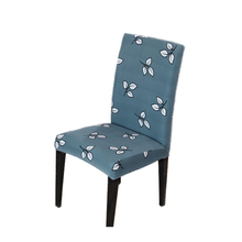 4Pcs/Lot Flower Printed Chair Cover Spandex Dining Seat for Banquet Stretch Wedding Party Housse de Chaise