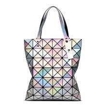 Aolen Women Top Handle Bag New Designer Luxury Famous Brand Lady Fashion Geometry Female Shoulder Handbags