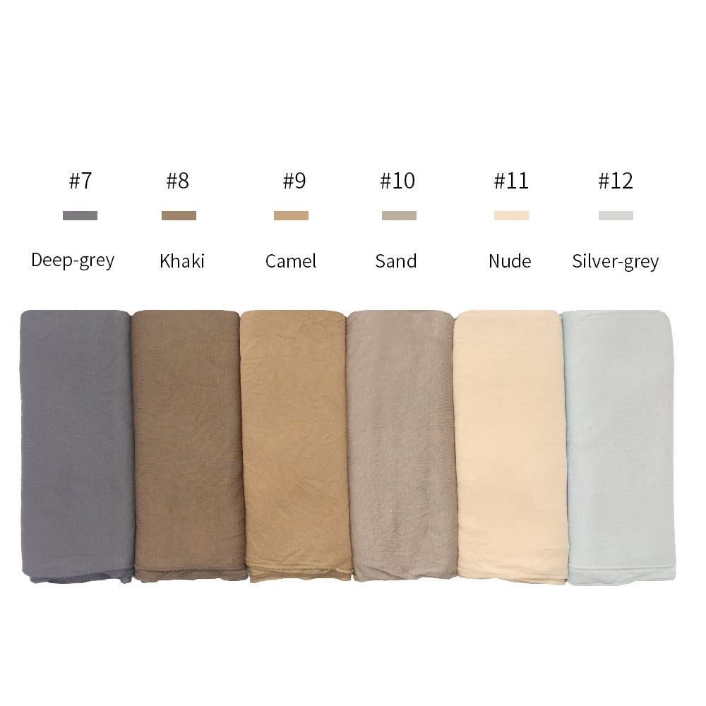 Image 3 - high quality Jersey cotton Hijab scarf stretchy women muslim 
