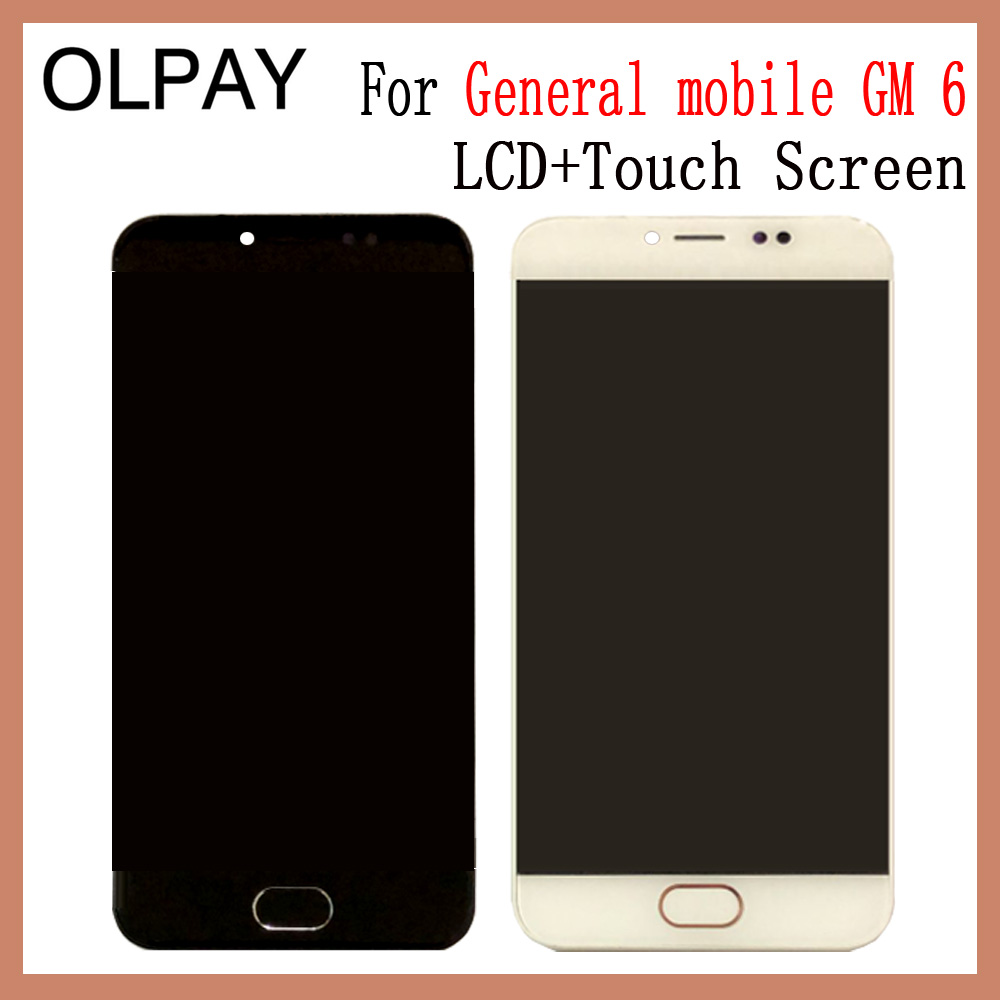 OLPAY 5.0 New Original For General mobile GM 6 GM6 LCD Display And Touch Screen Glass Assembly With Frame Phone