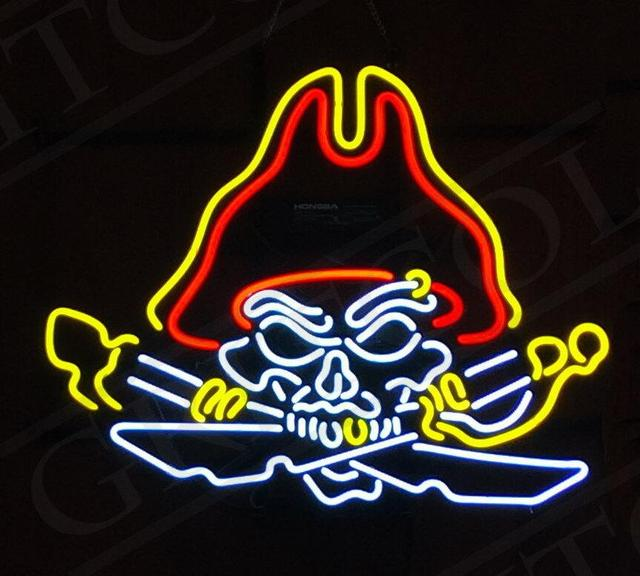 Custom Pirate Neon Light Sign Beer Bar