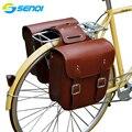 Ретро сумка для велосипедной стойки  кожаная задняя стойка для велосипедной сумки  прочная задняя Сумка для велосипедной седельной стойки ...