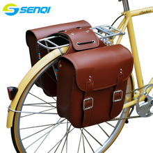 Retro Bicycle Rack Bag Leather Rear Bike Bags Robust Seatpost for Saddle Accessories