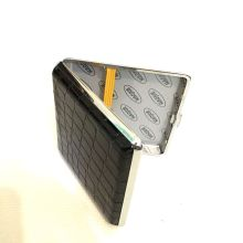 Metal Cover Ultra - Thin Cigarette Case Box Anti Skid Pressure Square Pattern Flip for Smoker Hot Sale