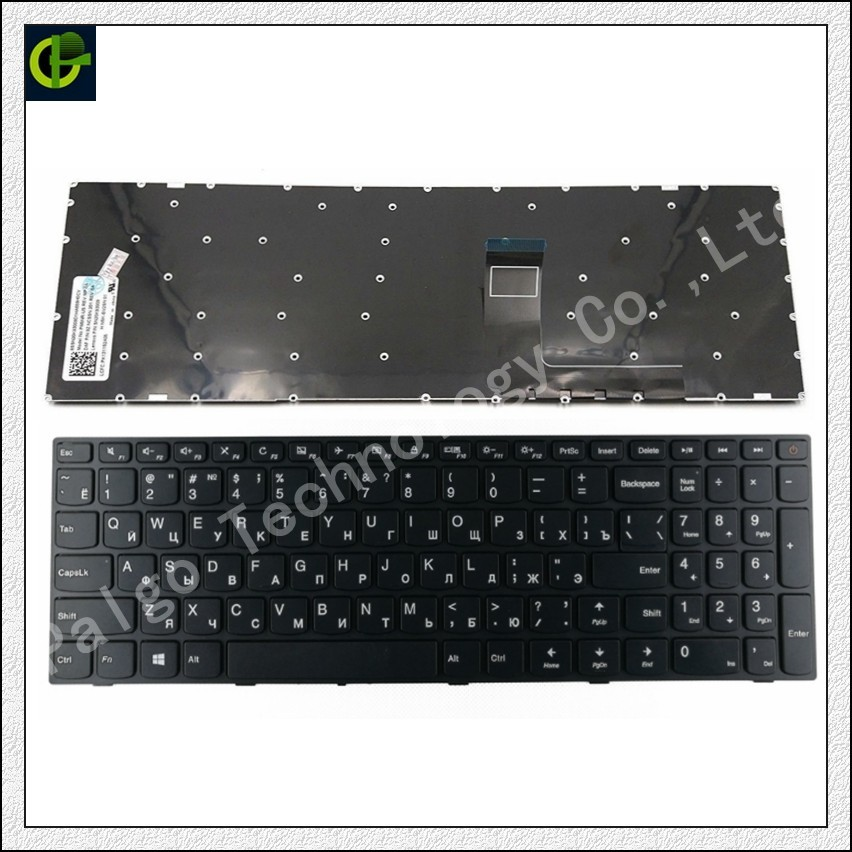 Russian Keyboard for Lenovo Ideadpad 110-15 110-15ACL 110-15AST 110-15IBR RU black laptop