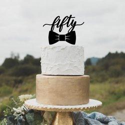 Сделанные на заказ черные акриловые торт Топпер 50 день рождения торт Топпер 50-й день рождения торт Топпер для мужчин с днем рождения подарок