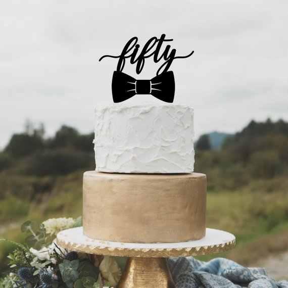 Awesome Custom Black Acrylic Cake Topper Fifty Birthday Cake Topper 50Th Funny Birthday Cards Online Necthendildamsfinfo