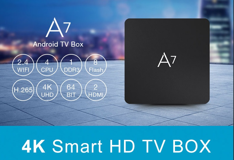 A7 mini Media Player Android TV Box for Amlogic Europe IPTV Box 4K WiFi Sport Movie Music Service image