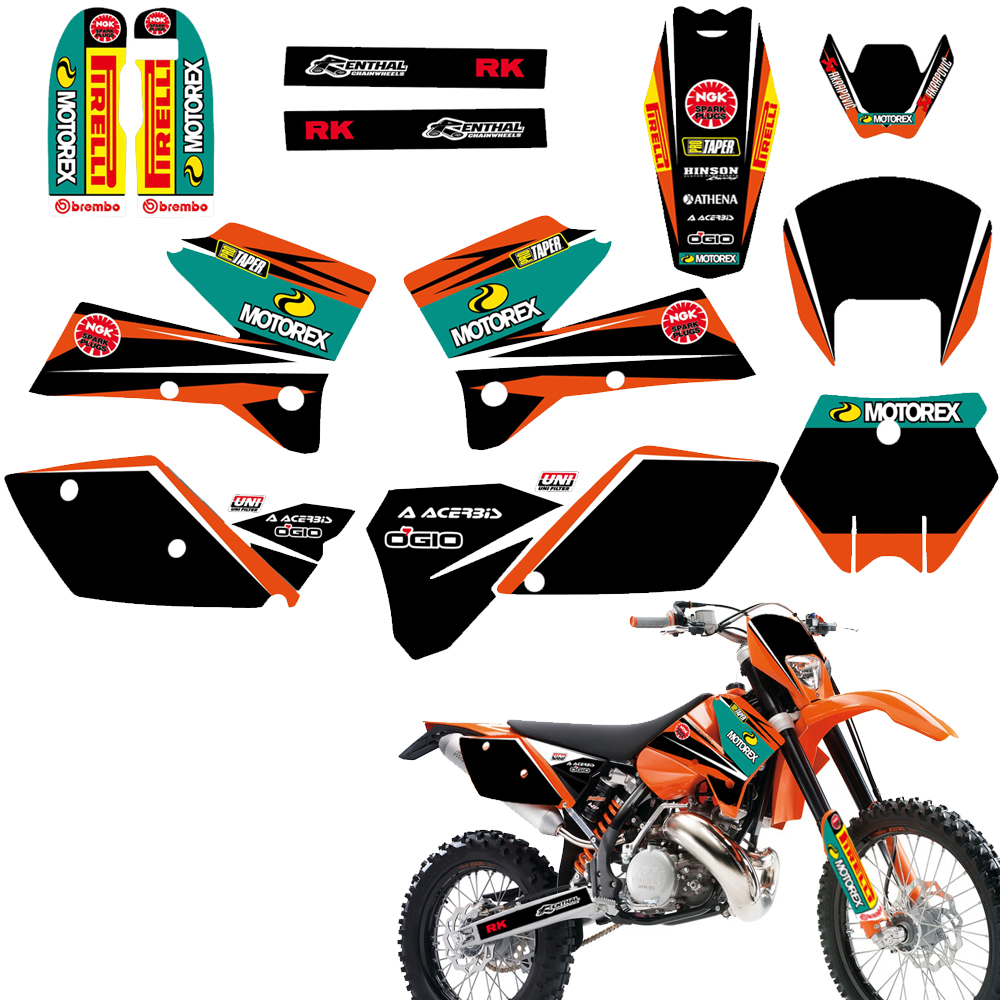 Matching Graphic Decal Sticker For <font><b>KTM</b></font> 125 200 <font><b>250</b></font> 300 400 450 525 SX <font><b>SXF</b></font> SX-F EXC EXCR XC XCF XC-F XCW XCFW MXC 2005 2006 <font><b>2007</b></font> image