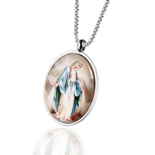 Religious Virgin Mary Christian Stainless Steel Pendant Catholic Jesus Men's Women's Universal wholesale