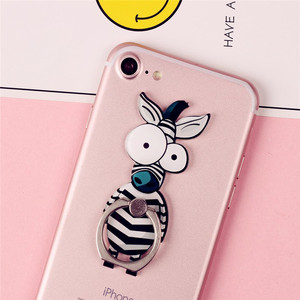 Cute Cartoon Finger Ring Mobile Phone Holder Animal 360 Degree phone ring Universal Metal Smartphone Stand Holder for iphone