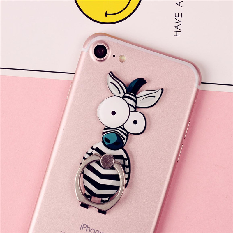Cute Cartoon <font><b>Finger</b></font> <font><b>Ring</b></font> Mobile Phone <font><b>Holder</b></font> Animal <font><b>360</b></font> Degree phone <font><b>ring</b></font> Universal <font><b>Metal</b></font> Smartphone Stand <font><b>Holder</b></font> for iphone image