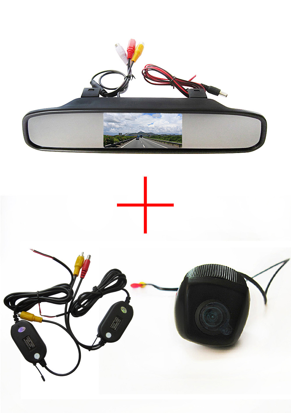 Wireless Color CCD Car Rear View Camera for BMW X1 X3 X5 X6 with 4.3 Inch Rear view Mirror Monitor электрический шкаф electrolux ezc52430ax серебристый