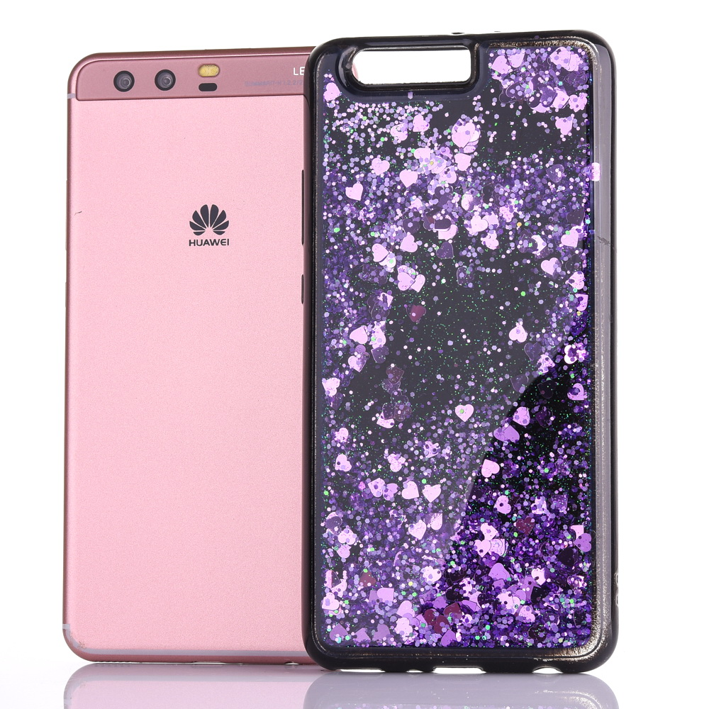 Radient Huawei P8lite 2017 Dynamic Liquid Glitter Sand Quicksand Star Soft Tpu Case For Huawei P9 P10 P10plus Crystal Black Back Cover Cellphones & Telecommunications
