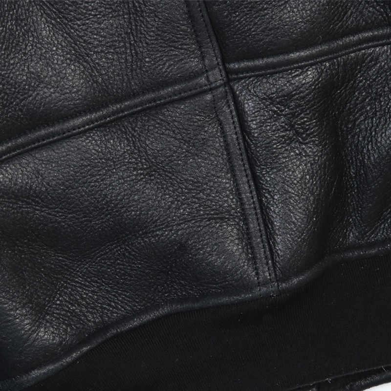 2019 黒人男性ミリタリーパイロットムートンジャケットプラスサイズ XXXL スリムフィット冬厚いロシアアビエイター本物のコート送料無料