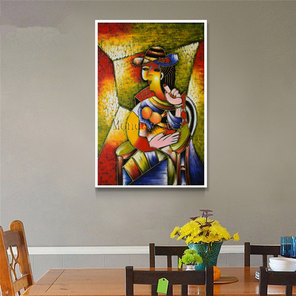 Professional aritist hand painted Picasso Abstract Canvas Painting Wall Pictures For Living Room Home Decoration oil painting