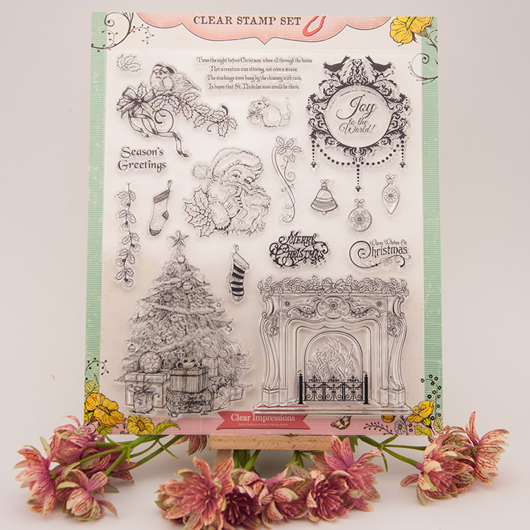 Fireplace Christma Transparent Destinat Silicone Stamp/Seal For DIY Scrapbooking/ photo Album Decorative Clear Stamp Sheets A241 lovely animals and ballon design transparent clear silicone stamp for diy scrapbooking photo album clear stamp cl 278