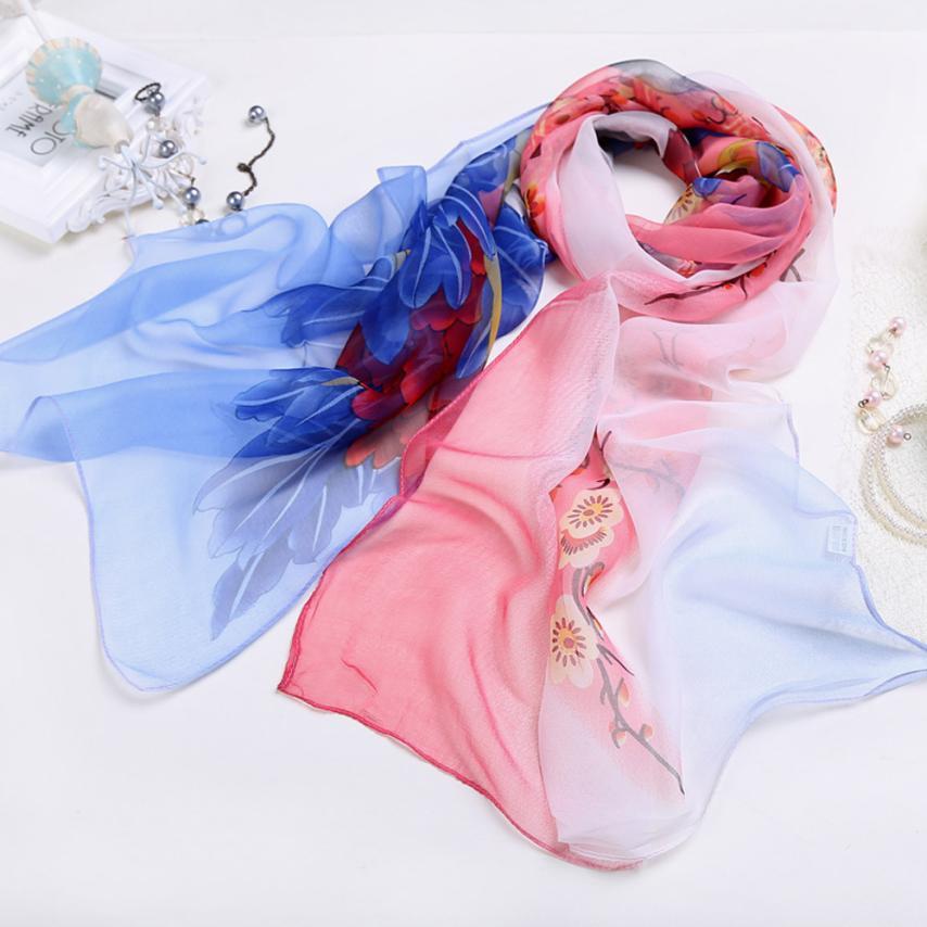 03aa2b6bf KANCOOLD Scarf new high quality Chiffon fashion Women Ladies Floral Scarf  Soft Wrap Long Shawl scarf