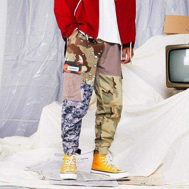 Joggeurs Pantalon Harem Multi Punk 2019 Rue Color Occasionnel Conception Hop Picture Hip Taille Élastique Date poches Hommes Cargo Arrivée qYavHYF