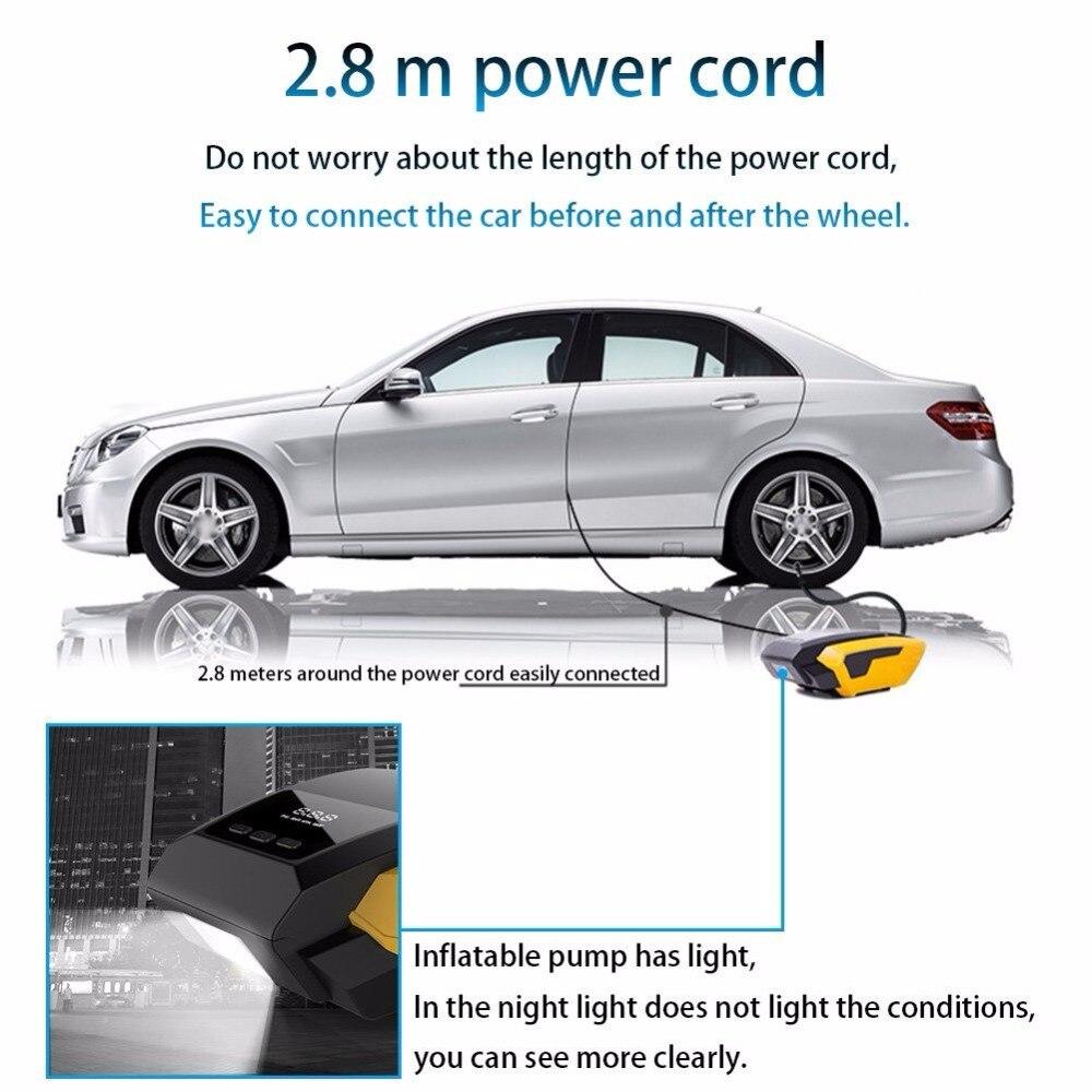 Купить с кэшбэком Portable Tire Inflator Pump, 12V 150 PSI Auto Digital Electric Emergency Air Compressor Pump for Car,Truck,SUV,Basketballs