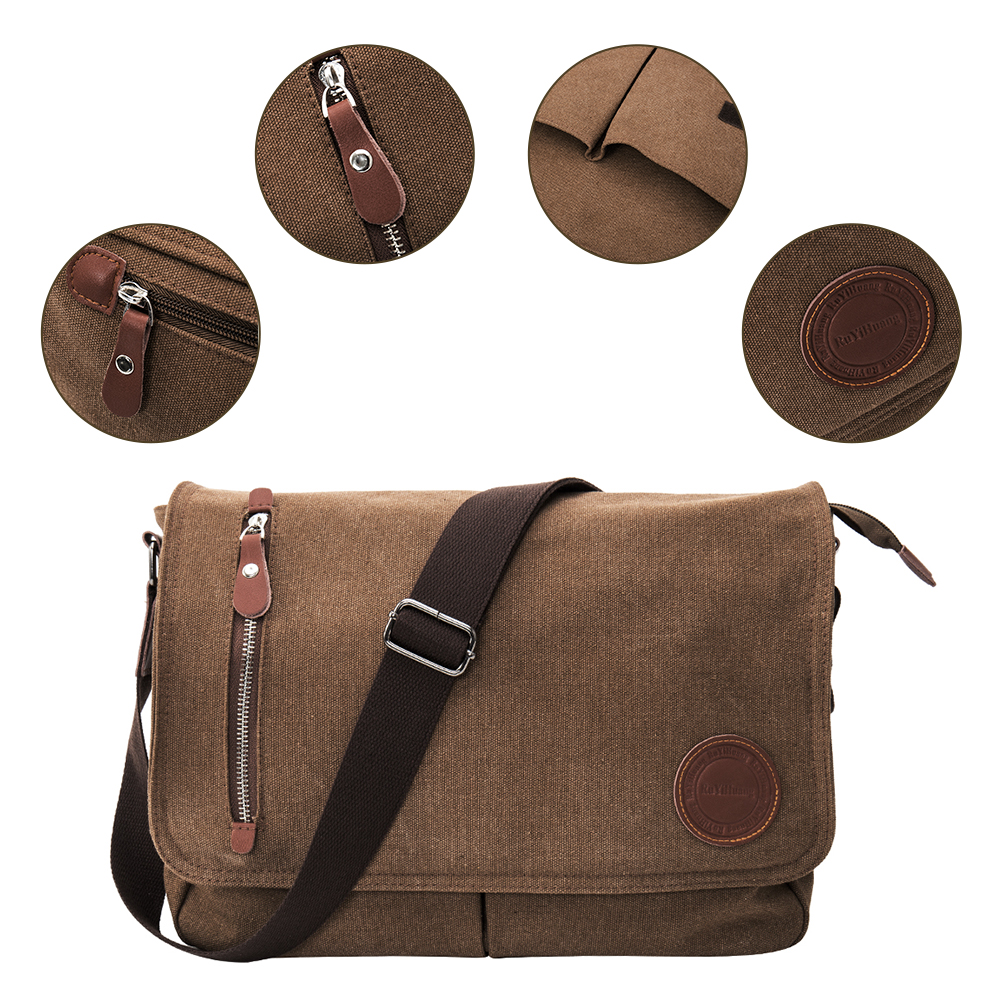Color : Black MATCHANT High Capacity Men Travel Luggage Bag Canvas One Shoulder Crossbody Bag Handbag Weekender Package