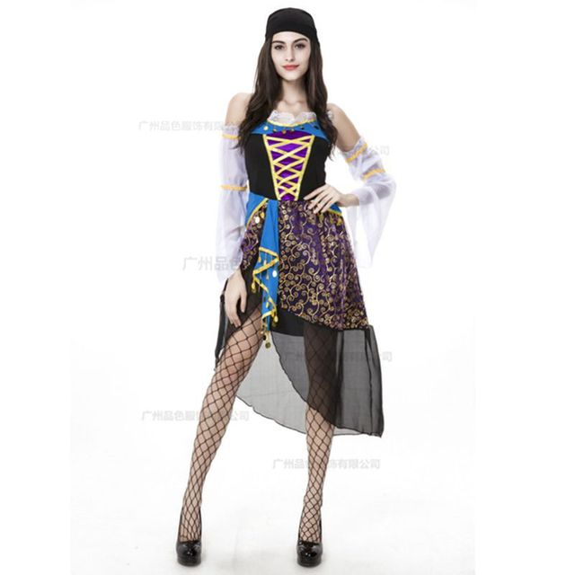 gypsy ethnic costumes divine halloween costumes helloween fantasias feminina halloween costume for women medieval witch pirate