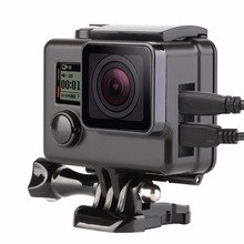 Black Side Open Protective Housing Case For Gopro Hero 3 4 3+ Silver Skeleton Protector Cover Go Pro Camera