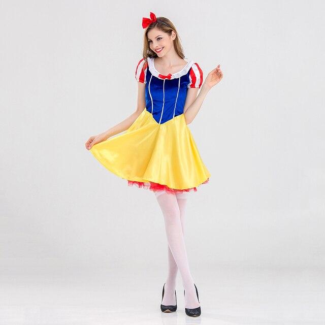 Halloween Sprookjes Kostuum.Vashejiang Volwassen Sprookje Prinses Sneeuwwitje Kostuum Sexy Sneeuwwitje Prinses Cosplay Vrouwen Halloween Carnaval Kostuums