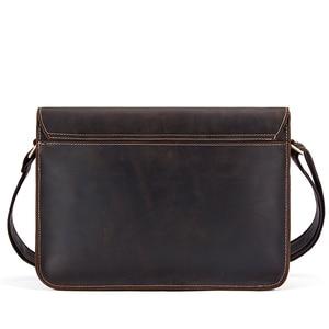 Image 2 - WESTAL genuine leather mens shoulder bag male satchels handbag bussiness document messenger bag mens crossbody bags for men