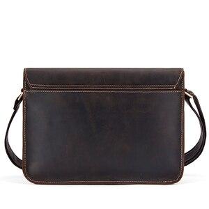 Image 2 - WESTAL 정품 가죽 남성 숄더 가방 남성 satchels 핸드백 bussiness 문서 메신저 가방 남성용 crossbody 가방