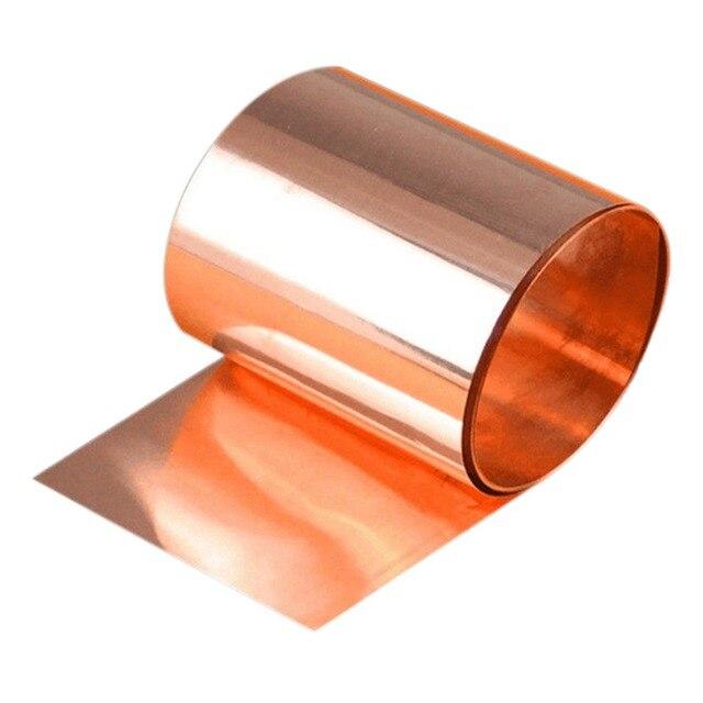 """Rollo de cinta de hoja de Metal cortada, 99.9% cobre puro, 0,1x100x1000mm, 33 pies, 39 """", 1 Uds., nuevo"""