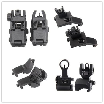 цена на Tactical BUIS M4 AR15  AR-15 Front Rear Sight flip up Rapid Transition Backup Sight for Picatinny Rail
