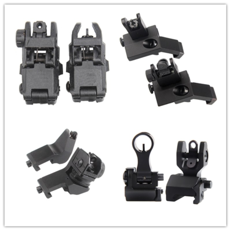 Tactical BUIS M4 AR15 AR-15 Front Rear Sight flip up Rapid Transition Backup Sight for Picatinny Rail(China)