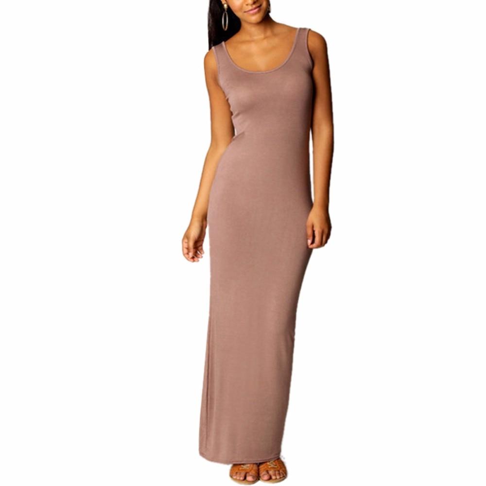 2018 vestido de verano de las mujeres sexy de algodón sin mangas - Ropa de mujer