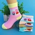 5 pairs/детские носки 2016 осенью и зимой хлопок моды мультфильм в трубе детей носки 1-6 лет мальчики/девочки носки