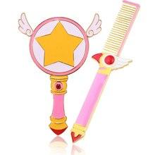 Free Shipping Cute Sailor moon/Cardcaptor Sakura Comb Mirror Beauty Bird Magic Wand Angel Wings Comb Women Birthday Gift Jewelry