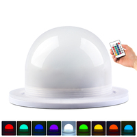 Free Shipping Dia 120mm Bulblite Wireless Rechargeable RGB LED Lighting System Driver Waterproof Bulb Lite LED