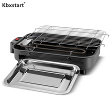 Kbxstart 220V Multifunction Electric Griddles Smokeless Barbecue Teppanyaki  BBQ Roasting Pan Stove Machine Roaster